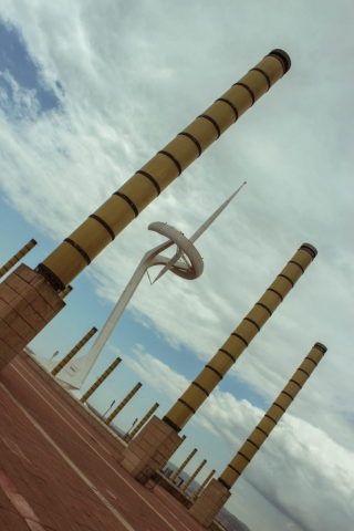 montjuic communications tower barcelona spain